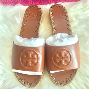 NEW Tory Burch patty wedges slide size 6